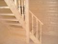 Вид на мансардную лестницу с первого этажа