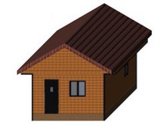 Проект небольшой экономичной бани 4 х 5 м с двускатной крышей