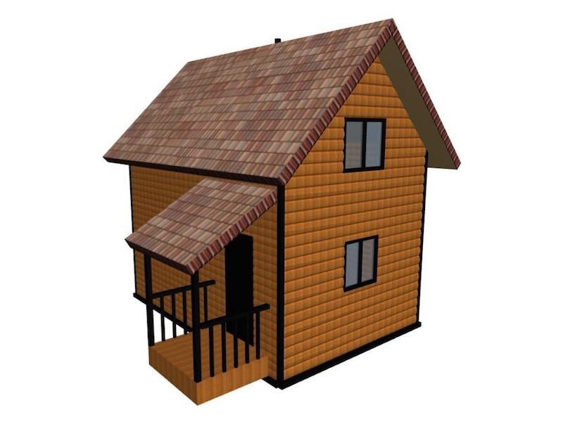 Проект бани с мансардой и двумя комнатами отдыха 6 х 4,2 м