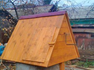 Стоимость домика для колодца 7000 рублей