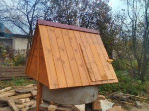 Установка колодезного домика за 1000 рублей