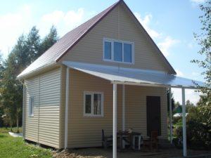 Проект каркасного дачного дома 55,9 м²