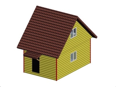 Дачный дом 6 х 4 м с мансардным этажом 4,9 х 4,0 метров
