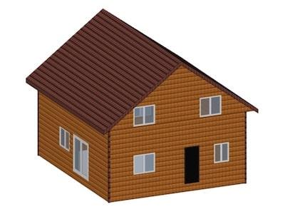 Жилой каркасный дом 8 х 9 м с мансардой со всеми удобствами