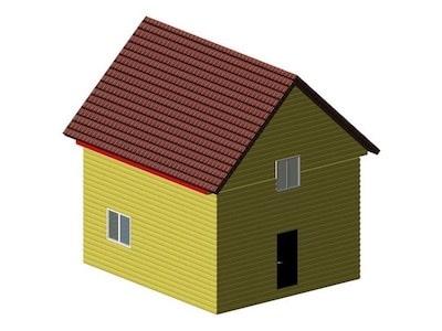 Жилой каркасный дом для постоянного проживания